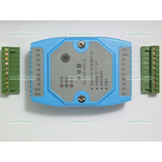 1 to 2 RS485 industrial grade optocoupler isolate repeater