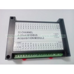 32 AI 4-20mA Current Acquisition 12bit  Modbus optocoupler isolate RS485 Module