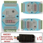 Humidity Temperature Module 12AI AM2301 12bit RS485 Modbus LED Meter