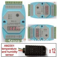 Humidity Temperature Module 12AI AM2301 12bit RS485 Modbus LED Meter